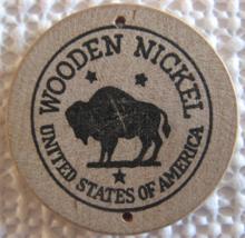 "Wooden Nickel From: ""Kimberling Galley"" - (sku#4970) - $7.50"