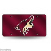 PHOENIX COYOTES TEAM LOGO NHL RED LASER LICENSE PLATE MADE IN USA - $36.09