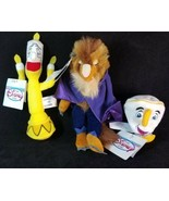 Disney Store Beauty And The Beast Beast Lumiere Chip Mini Bean Plush Toy... - $22.76