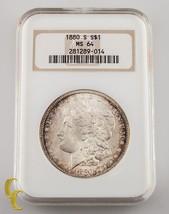 1880-S de Plata Morgan Dólar NGC Graduado Ms 64 - $111.46