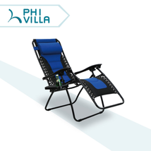 PHI VILLA Padded Zero Gravity Lounge Chair Patio Foldable Adjustable Rec... - $88.13