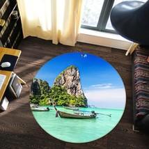 3D Hills Boat 122 Non Slip Rug Mat Room Mat Round Elegant Carpet UK Carly - $106.68+
