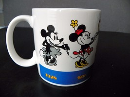 Vintage Applause Disney Minnie Mouse Through The Years Coffee Mug Cup - $5.86