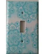 BLUE LOTUS FLOWER Light Switch Plate Cover Home decor bathroom kitchen Zen Peace - $7.75
