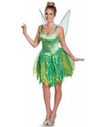 Tinker Bell Prestige Disney Fairy Peter Pan Fancy Dress Halloween Adult Costume - $93.48