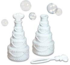 (144) White Wedding Cake Shaped Bubbles Bottles Wholesale Lot - $42.99