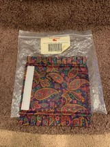 New Longaberger Burgundy Paisley Father Day Hol Gripper Liner New n Bag - $8.75