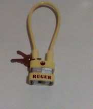 "Ruger Factory Issue 9 1/2""  Cable PadLock with 2 Keys YELLOW - $9.50"