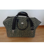 Diane Von Furstenberg DVF Leopard Duffle Travel Bag Cheetah Animal Print   - $64.99
