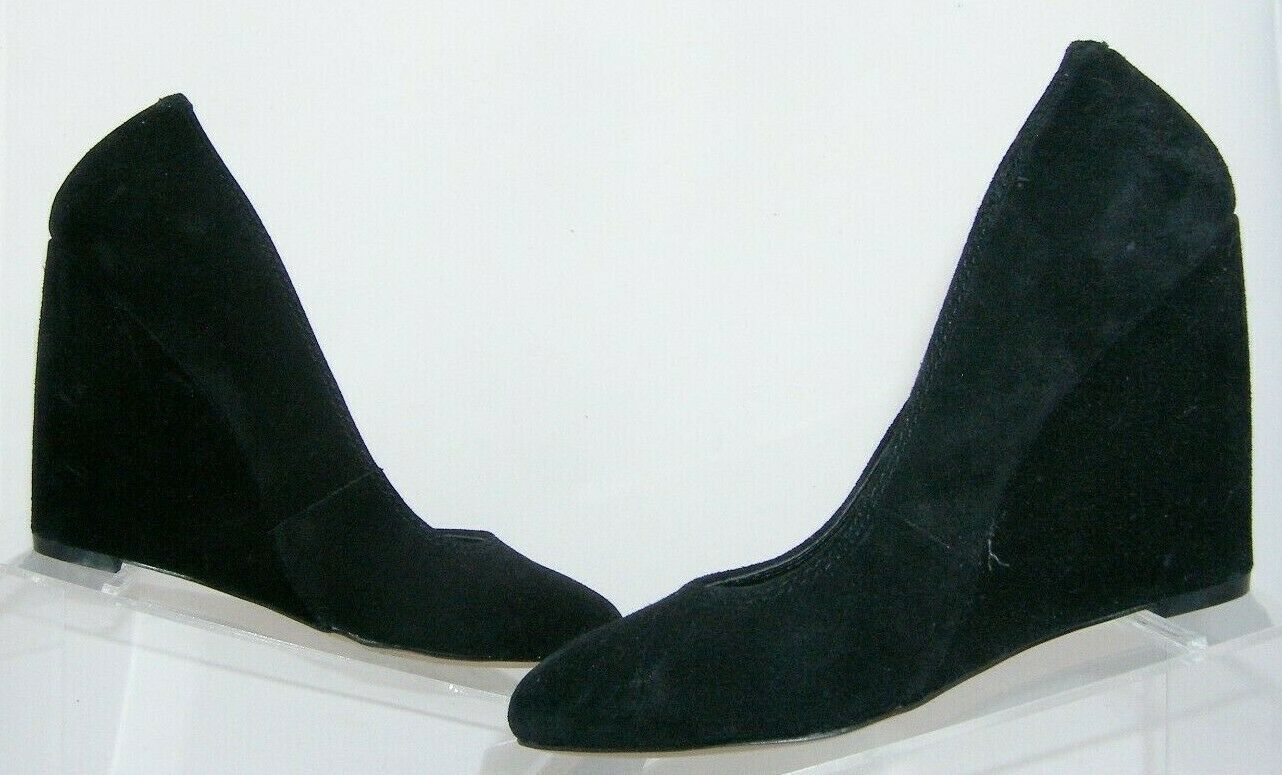Jessica Simpson 'Amari' black suede amond toe slip on womens wedges 8.5B image 11