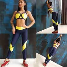 Yoga Gym Fitness Gym Sportswear 2 Piece Seamless Compression Workout Suit image 4