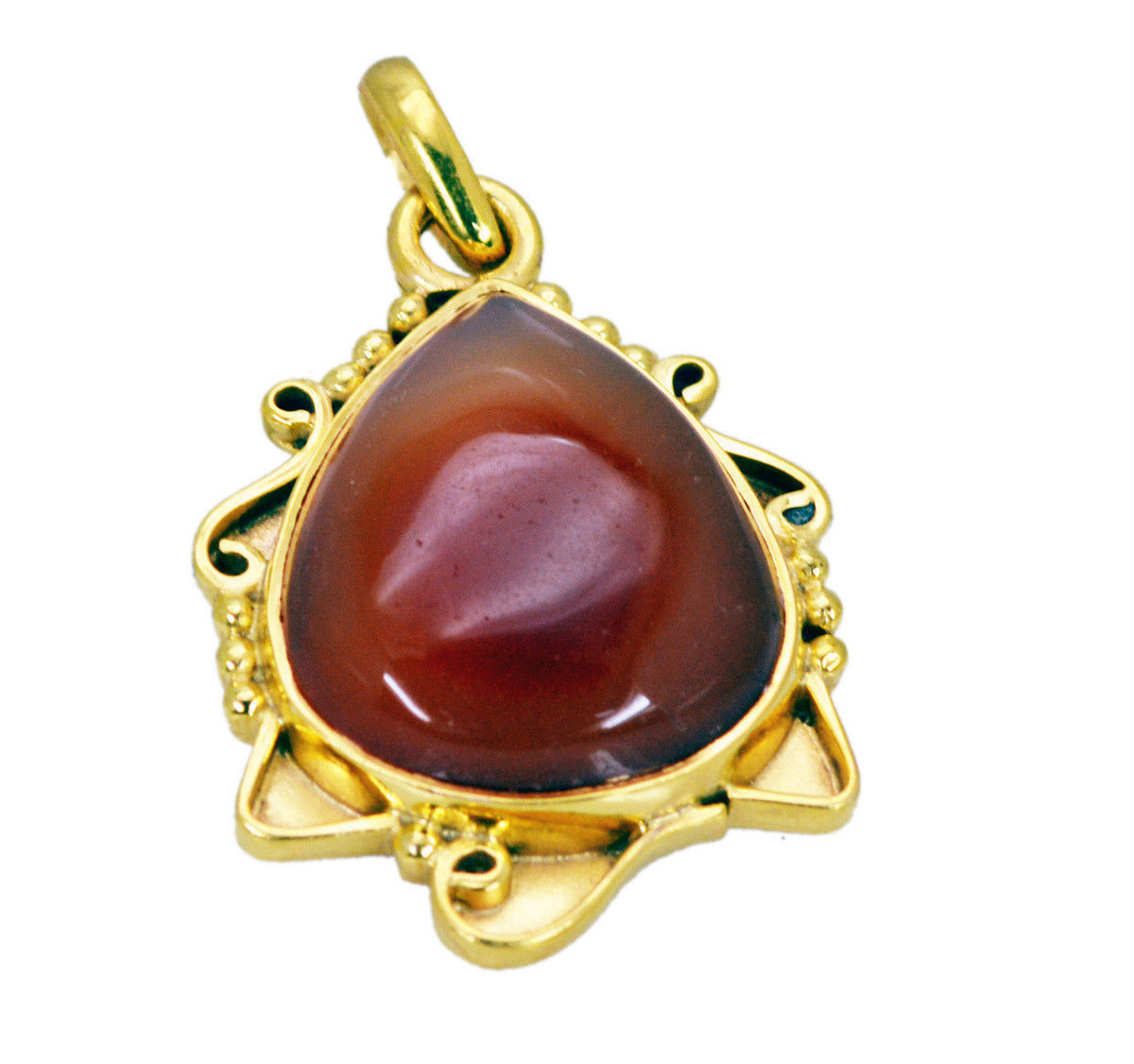 inviting Red Onyx Gold Plated Red Pendant Fashion usually US