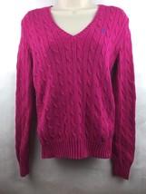 Women's Ralph Lauren Sport Pink Cable Knit Sweater Size Medium - $14.84