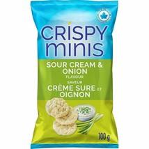 2x Quaker Crispy Minis Sour Cream and Onion Rice Chips 100g/3.52oz Canada FRESH - $15.79