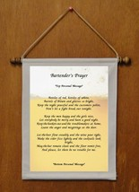 Bartender's Prayer - Personalized Wall Hanging (863-1) - $18.99
