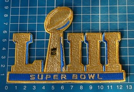 2019 Superbowl LIII 53rd GOLD Super Bowl NFL FOOTBALL Jersey Patch embro... - $18.50
