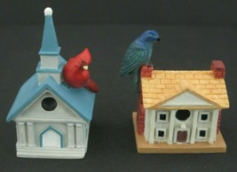 "Vintage Lenox Miniature Bird Houses 2"" tall Pair  - $13.98"