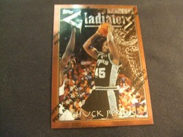 1996-97 Topps Finest w/peel #12 Chuck Person-San Antonio Spurs- - $3.12