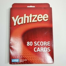 Yahtzee Score Cards Pads 80 Brand NEW Sealed Parker Brothers Board 2004  - $12.56