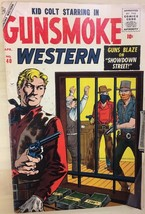 GUNSMOKE WESTERN #40 Kid Colt (1957) Atlas/Marvel Comics Williamson art ... - $9.89