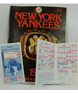 1977 Official New York YANKEES Scorebook magazine program plus TWO Sched... - $17.79