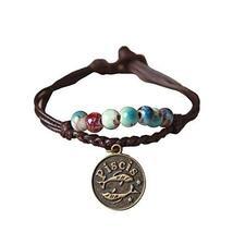 Set Of 10 Hand Jewelry Lap Zodiac Glaze Beads Handmade Porcelain Beads