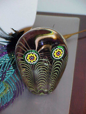Primary image for Murano Italian Art Glass Owl Paperweight Figure Galliano Ferro Millefiore MidCnt