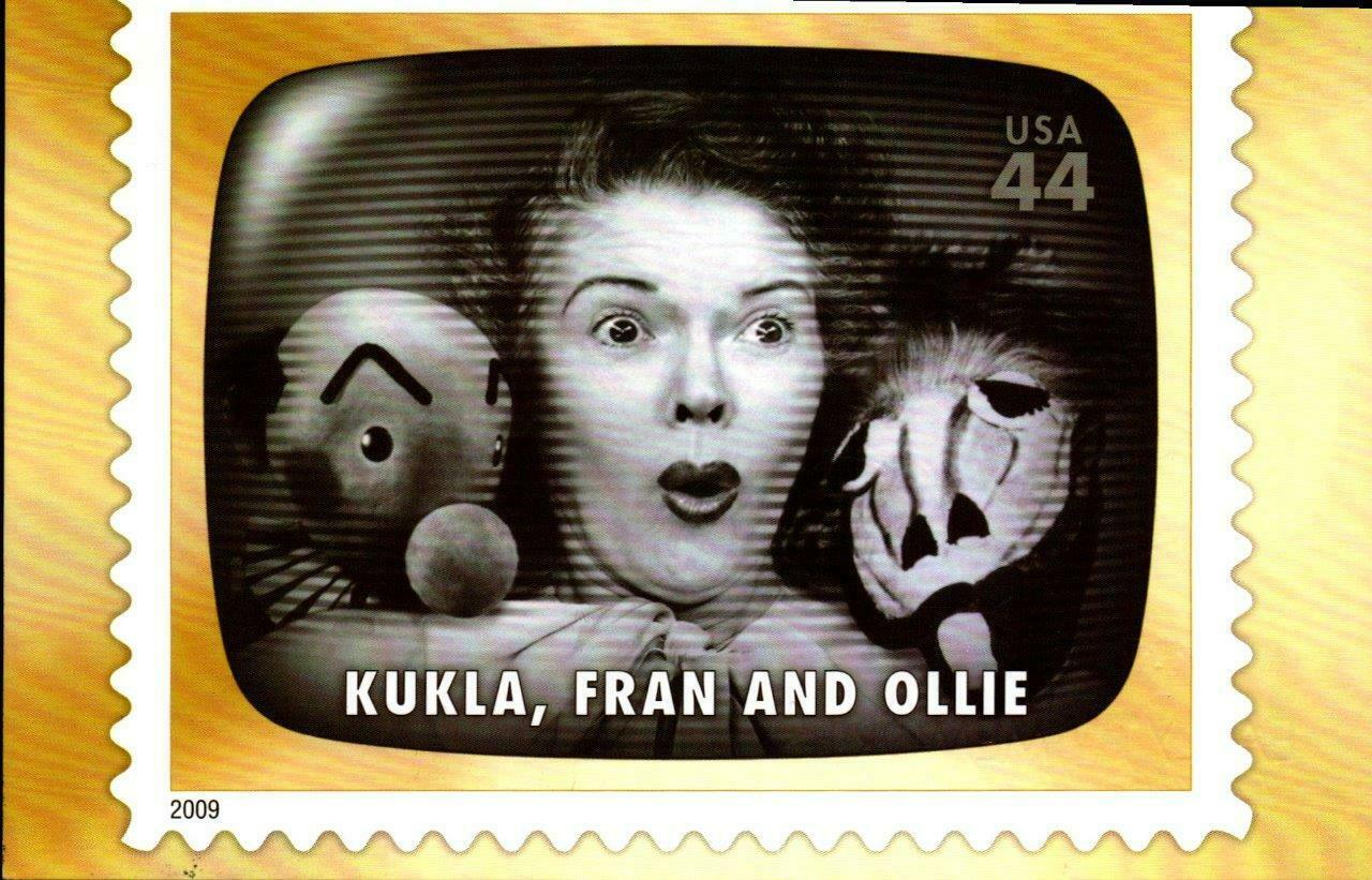 FDC POSTCARD-KUKLA, FRAN & OLLIE- EARLY TV MEMORIES-2009  ARTCARFT CACHET  BK16
