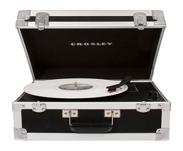 CROSLEY CR6251A-BK Bound Portable Bluetooth Turntable Record Player Black NEW - $149.95