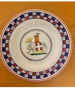 """Plate 8""""  Deruta Italy Model Tower Hand Painted with Elephant. - $32.00"""