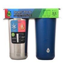 TAL Ranger Pint XL 22 oz double wall vacuum insulated tumbler/cup (2 pack)  - $19.99