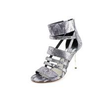 MICHAEL Michael Kors Shiloh Open Toe Metallic Embossed Lea Women Size 9.... - $109.95