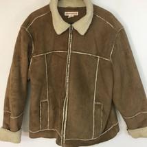 Aeropostale Brown Washable Faux Suede, Size L  Large Jacket Coat  - $17.59