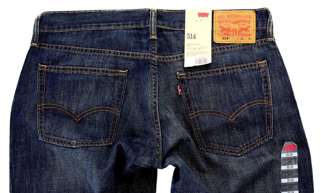 Levi's Strauss 514 Men's Slim Fit Straight Leg Jeans Pants 514-0191 SIZE 30x32