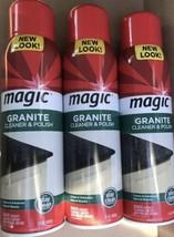 (3) Magic Granite Cleaner & Polish 17 oz ea Cleans Enhances Natural Counter - $69.66