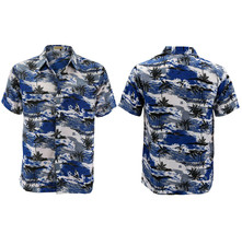 Men's Hawaiian Tropical Beach Party Button Up Casual Dress Shirt w/ Defect 2XL