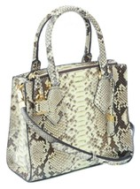 Michael Kors Collection Casey Hemp Satchel Bag Beige Snakeskin Handbag RRP £1870 - $623.01