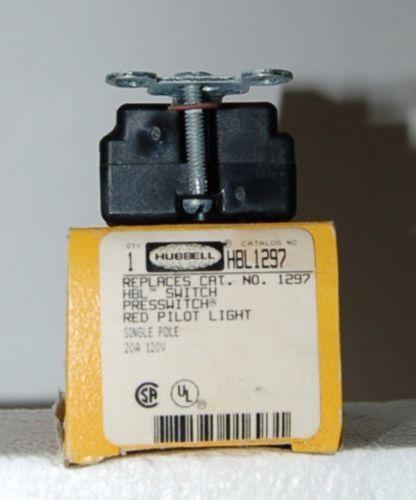Hubbell HBL1297 Red Nylon AC Pilot Light Actuator Single Pole USA
