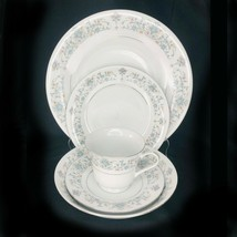 2 Vintage China Pearl Fine China Moon Light Pattern Place Setting 10 pieces - $29.02