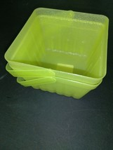 (X2) Spritz Lime Green Sparkly Berry Basket W/Handle LOT OF 2 BASKETS- NEW! image 2