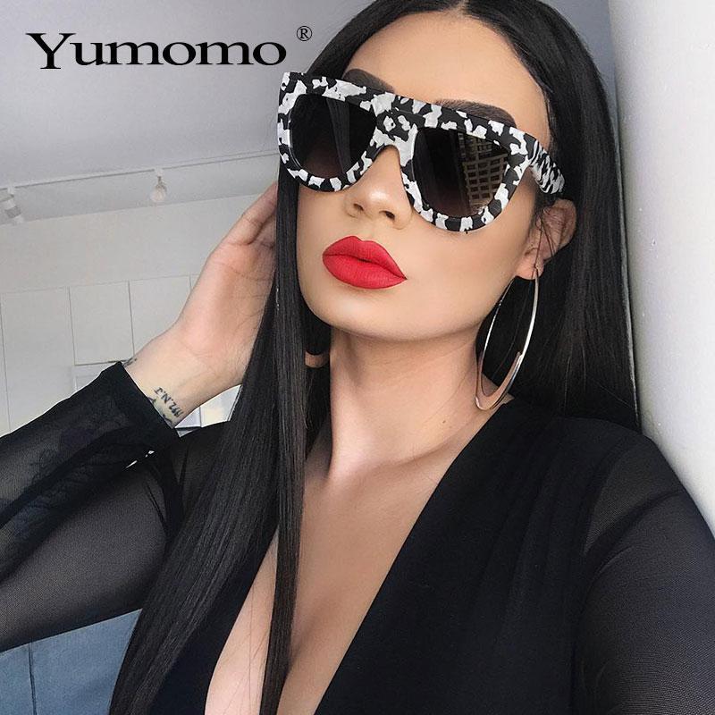 Are sunglasses ladies brand designer retro marble color fashion sunglasses retro tone lunette de