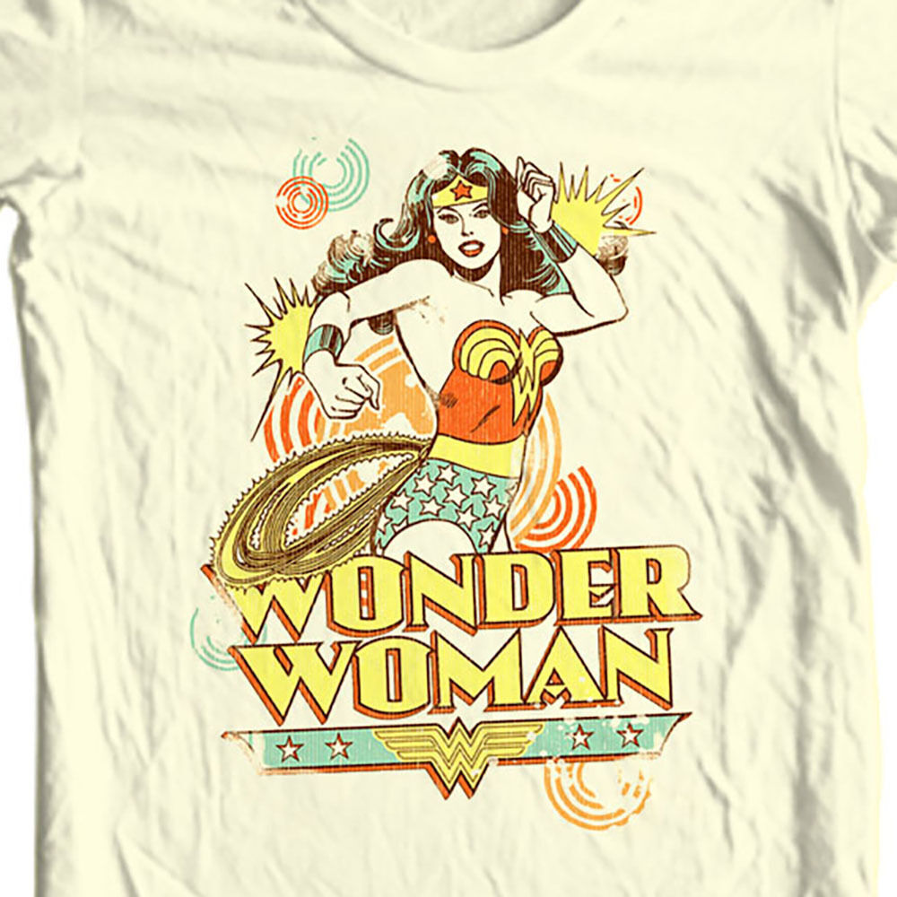 Wonder Woman T-shirt golden age old DC comic superhero graphic cotton tee DCO179