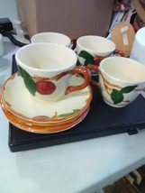 4 Franciscan Apple Cups and Saucers - California - $11.91