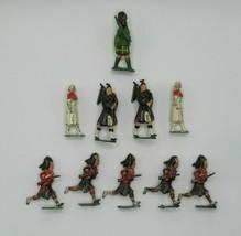Britains Ltd Toy Soldiers Scottish Proprietors Red Coat Chaplain + Lot of 10 VTG - $48.19