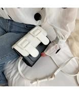 Contrast Color PU Leather(White 15cm x 19cm x 8cm) - $40.11