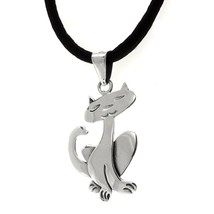 TAXCO .925 STERLING SILVER CUTE CAT PENDANT | Mexican Jewelry - $24.95