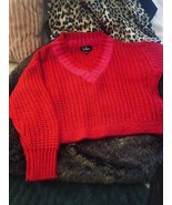 Adorable Sweetest Heart Pink and Red Knit Varsity Sweater LULUS X Small. - $40.00
