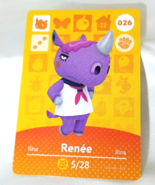 026 - Renee - Series 1 Animal Crossing Villager Amiibo Card - $19.99