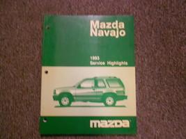 1993 Mazda Navajo Service Highlights Repair Shop Manual Factory Oem Book 93 - $6.58