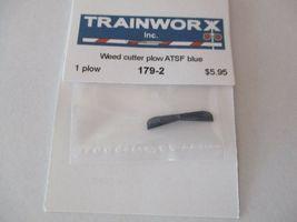 Trainworx Stock #179-2 Snowplow Weed Cutter ATSF Blue N-Scale- image 3